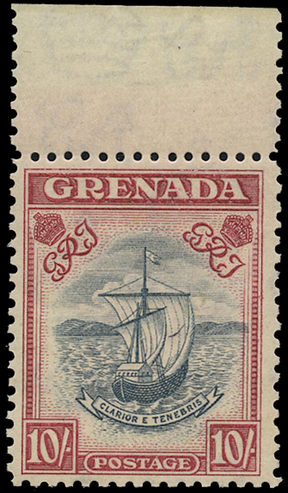 GRENADA 1943  SG163c Mint unmounted 10s slate-blue and bright carmine perf 12
