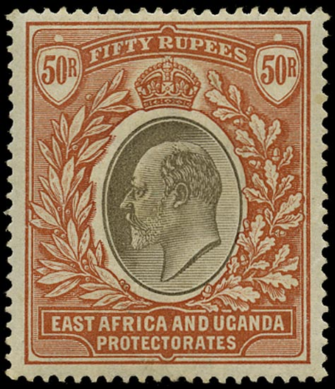 KUT 1903  SG16 Mint KEVII 50r grey and red-brown watermark CC