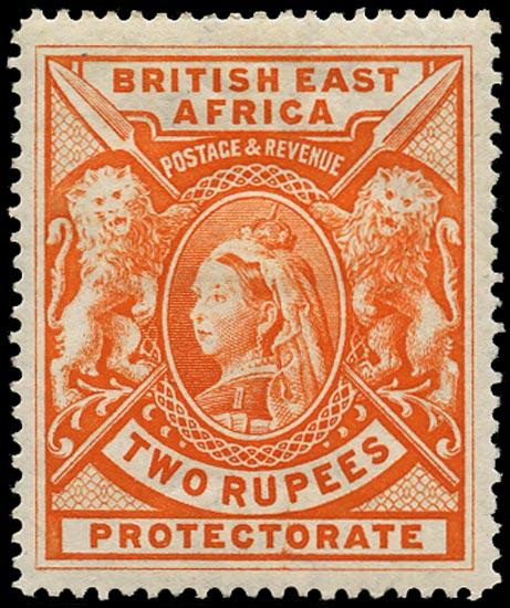 BRITISH EAST AFRICA 1897  SG93 Mint QV 2r orange