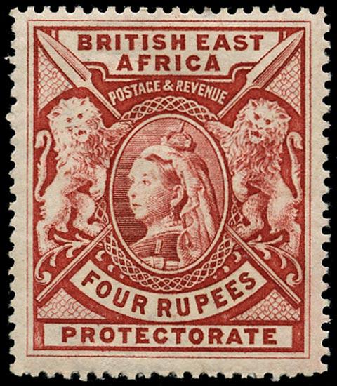 BRITISH EAST AFRICA 1897  SG95 Mint QV 4r carmine
