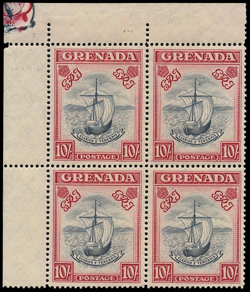 GRENADA 1943  SG163e Mint unmounted 10s blue-black and carmine perf 14
