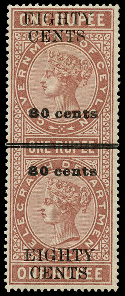 CEYLON 1882  SGT87 Telegraph