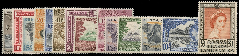 KUT 1954  SG167/80 Mint unmounted QEII set of 14 to £1