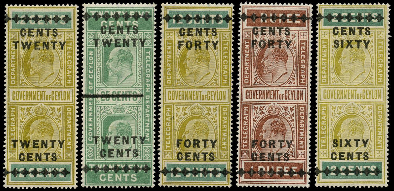CEYLON 1910  SGT180/4 Telegraph