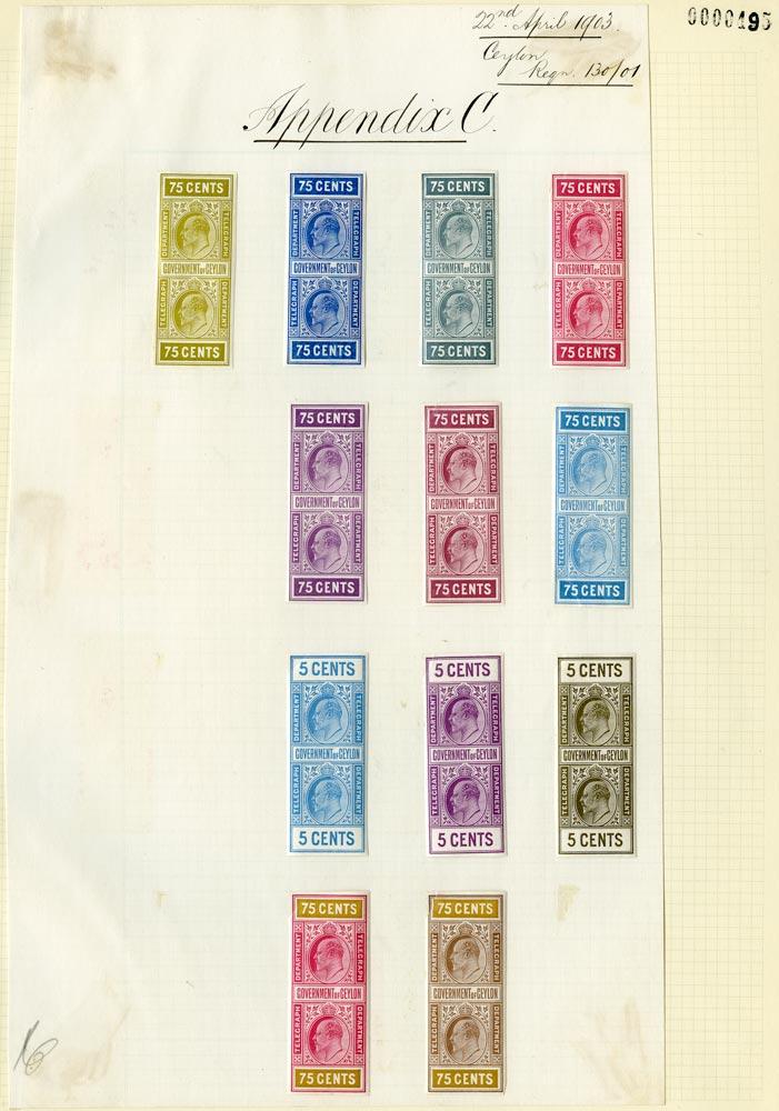 CEYLON 1903  SGT150, 158 Telegraph