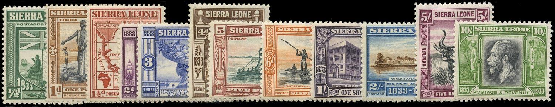 SIERRA LEONE 1933  SG169/79 Mint Wilberforce set of 12 to 10s