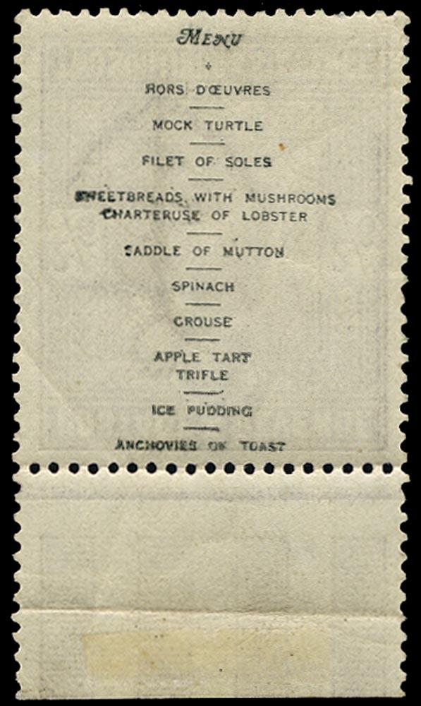 GB 1902  SG260var Mint unmounted o.g. example, printed menu