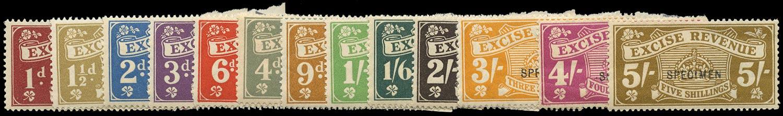 GB 1916 Revenue Excise Duty Specimen set