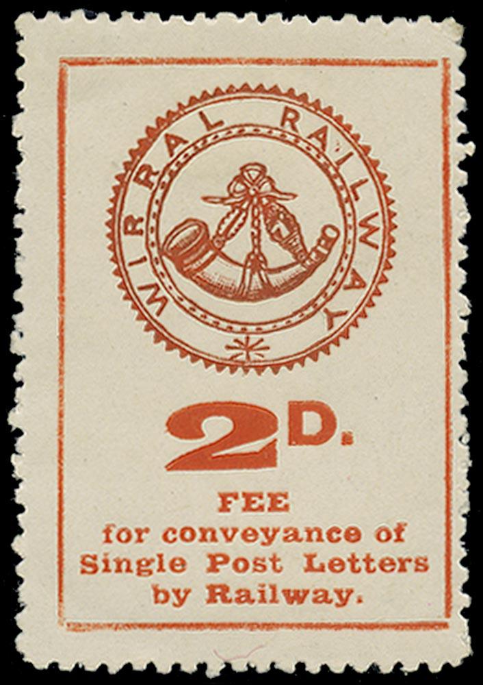 GB 1908 Railway - 2d Wirral Railway Letter stamp