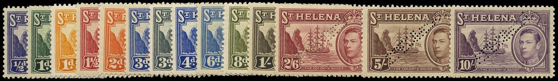 ST HELENA 1938  SG131s/40s Specimen KGVI set of 14 to 10s