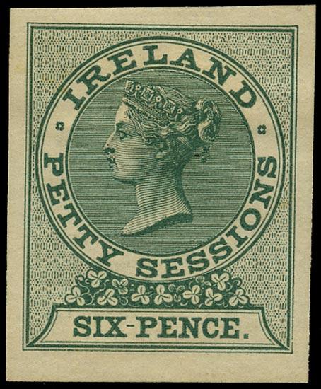 GB 1862 Revenue Ireland Petty Sessions Imperforate Imprimatur