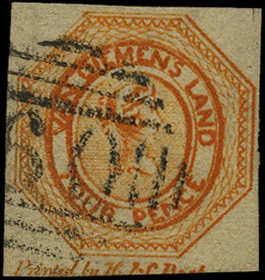 TASMANIA 1853  SG10 Used