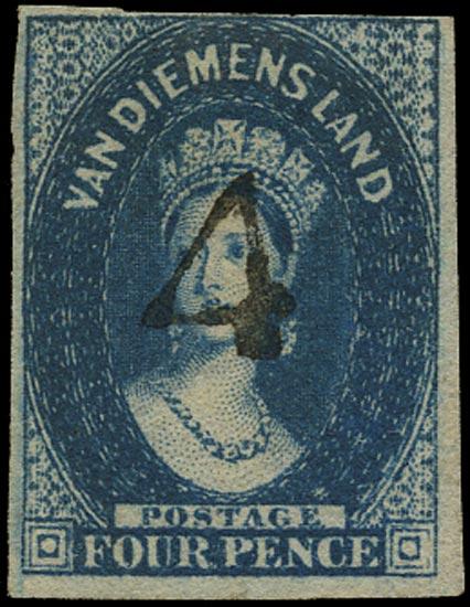 TASMANIA 1855  SG18 Cancel