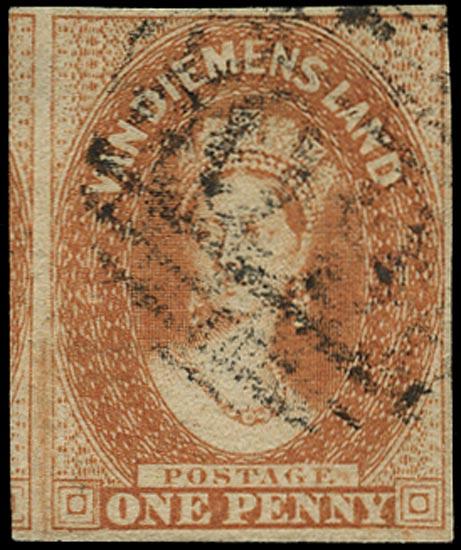TASMANIA 1856  SG19 Used