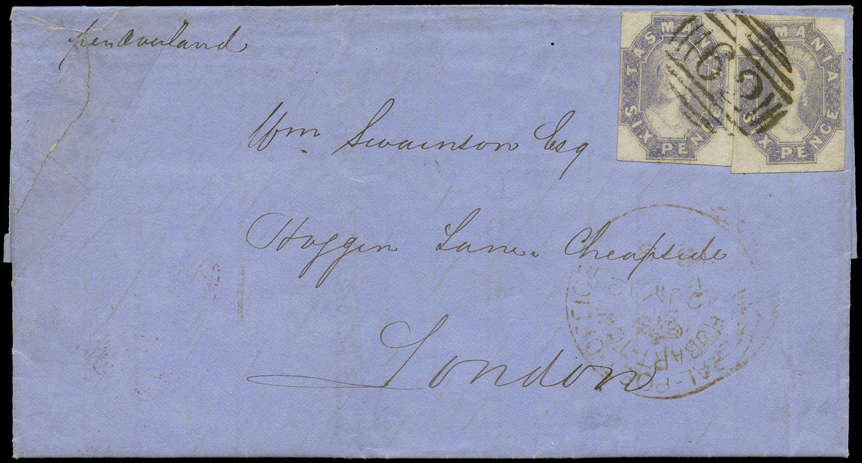 TASMANIA 1858  SG40 Cover