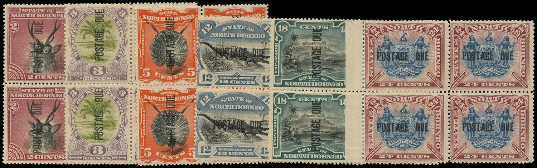 NORTH BORNEO 1895  SGD2/3, 5, 8b, 10c, 11b Postage Due