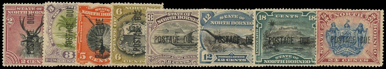 NORTH BORNEO 1895  SGD1/11b Postage Due