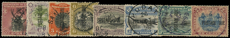 NORTH BORNEO 1895  SGD2/11b Postage Due