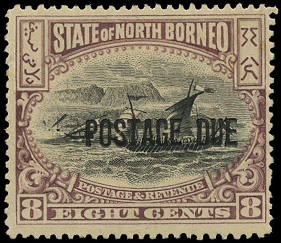 NORTH BORNEO 1897  SGD19 Postage Due