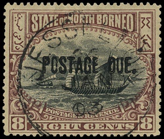 NORTH BORNEO 1901  SGD29 Postage Due