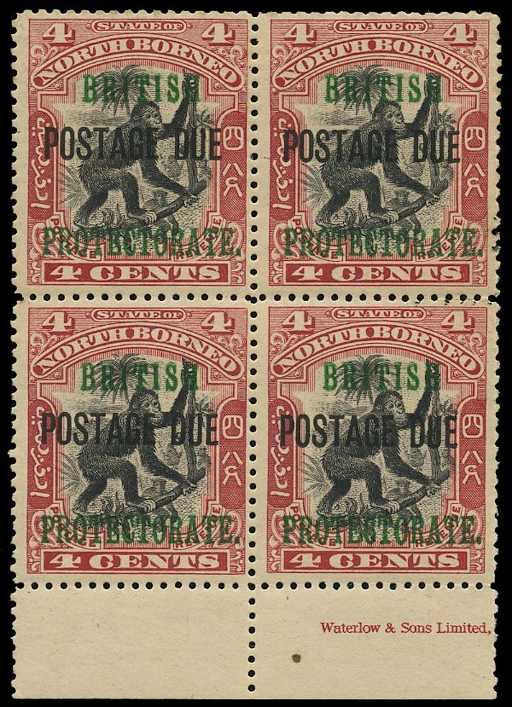 NORTH BORNEO 1902  SGD40 Postage Due