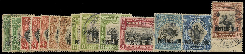 NORTH BORNEO 1918  SGD52/65a Postage Due