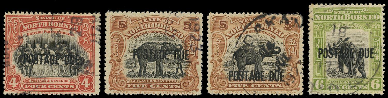 NORTH BORNEO 1918  SGD56/8, 60 Postage Due