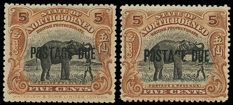 NORTH BORNEO 1918  SGD58, var Postage Due