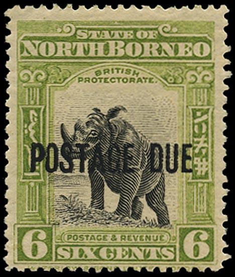 NORTH BORNEO 1918  SGD60 Postage Due