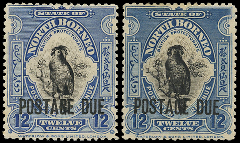NORTH BORNEO 1918  SGD64 Postage Due