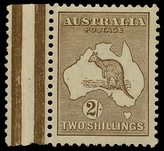 AUSTRALIA 1915  SG29 Mint unmounted 2s brown Kangaroo and Map watermark 5