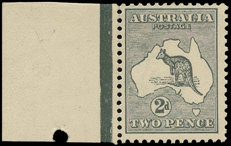 AUSTRALIA 1915  SG35bw Mint unmounted 2d grey Kangaroo and Map wmk 6 inverted