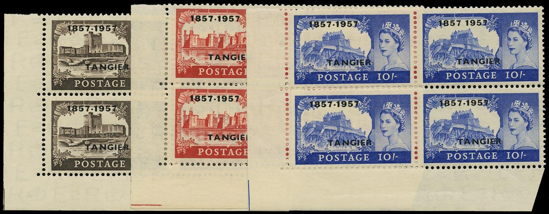 MOROCCO AGENCIES 1957  SG340/a/342/a Mint