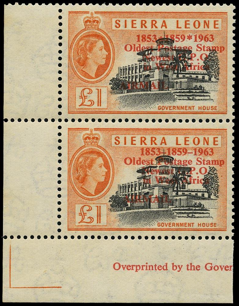 SIERRA LEONE 1963  SG284/b Mint
