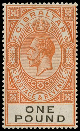 GIBRALTAR 1925  SG107 Mint