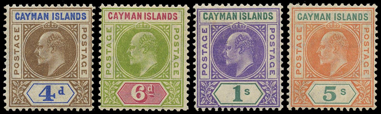 CAYMAN ISLANDS 1907  SG13/16 Mint