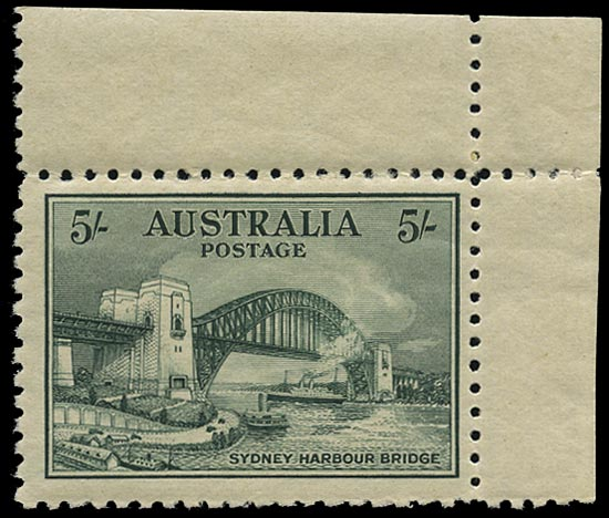 AUSTRALIA 1932  SG143 Mint unmounted Sydney Harbour Bridge 5s