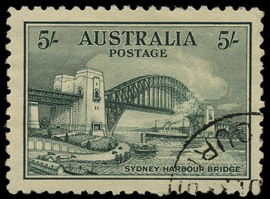 AUSTRALIA 1932  SG143 Used Sydney Harbour Bridge 5s