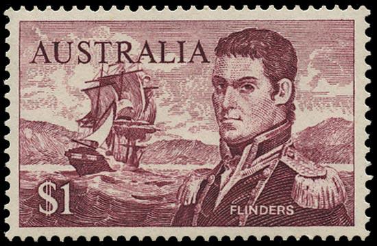 AUSTRALIA 1966  SG401c Mint unmounted Navigators $1 Flinders perf 15x14