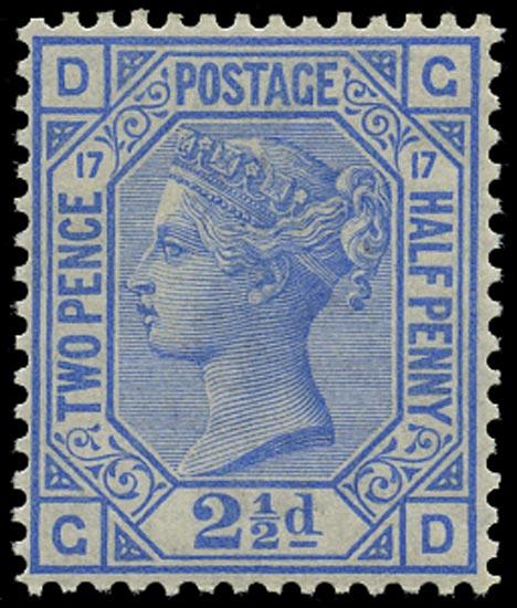 GB 1880  SG142 Pl.17 Mint unused o.g. example (GD)