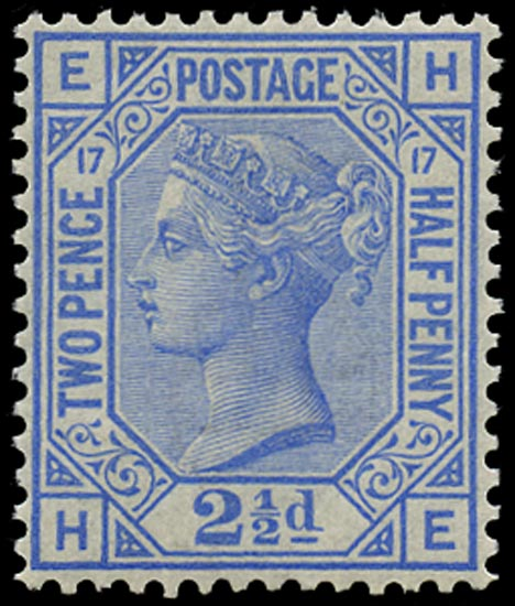 GB 1880  SG142 Pl.17 Mint unmounted o.g. example (HE)