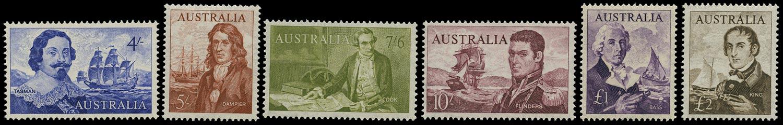 AUSTRALIA 1963  SG355/60 Mint unmounted Navigators set of 6 to £2