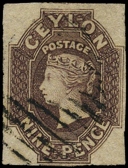 CEYLON 1857  SG8 Used