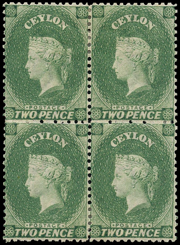 CEYLON 1863  SG50e Mint
