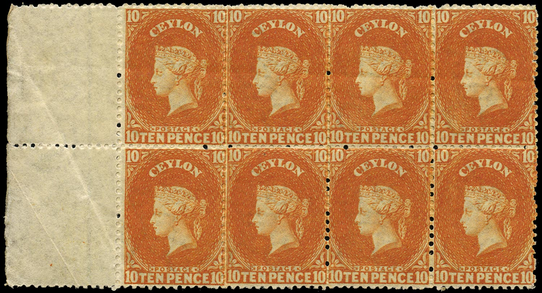 CEYLON 1867  SG70b Mint