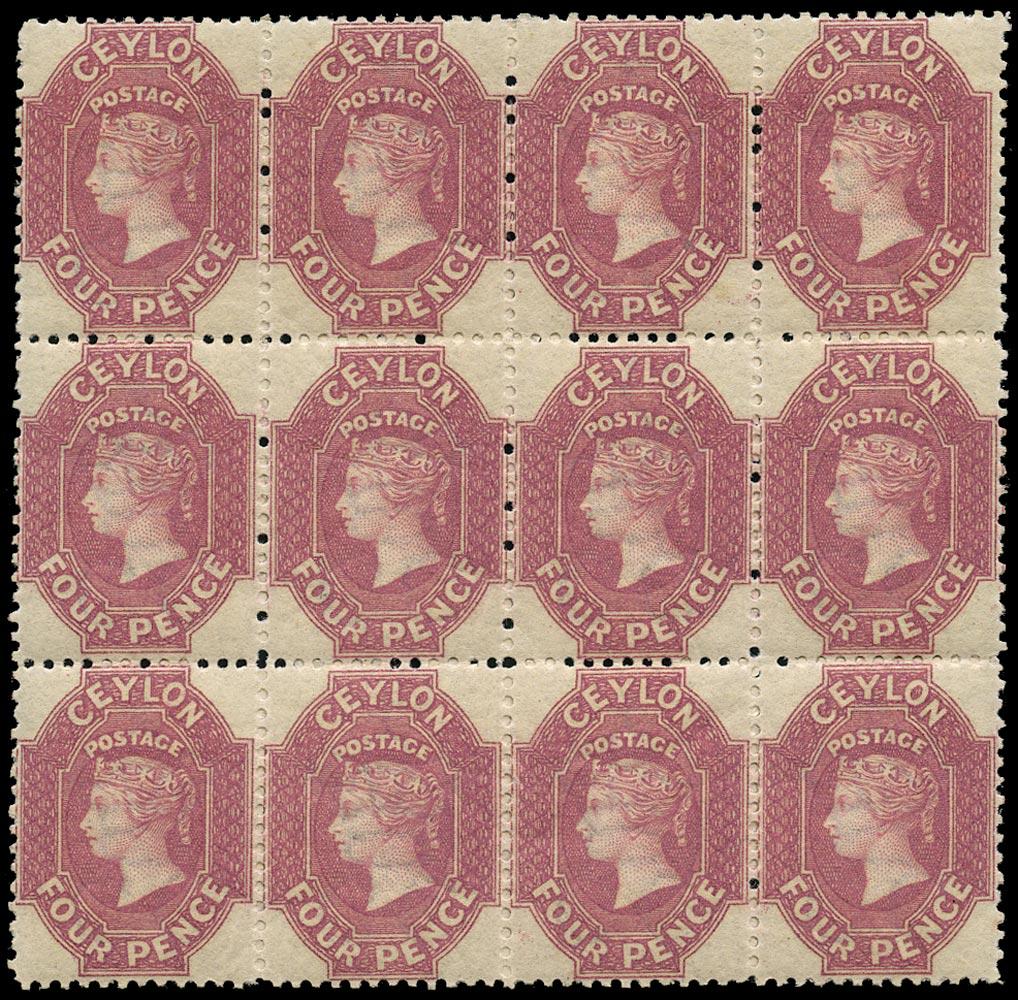 CEYLON 1867  SG65b Mint