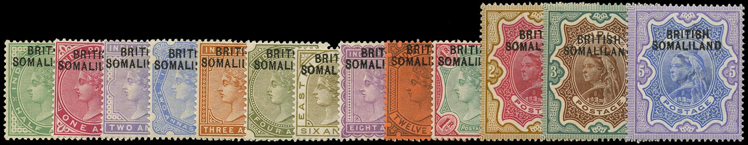 SOMALILAND PROTECT 1903  SG1/13 Mint QV set of 13 to 5r