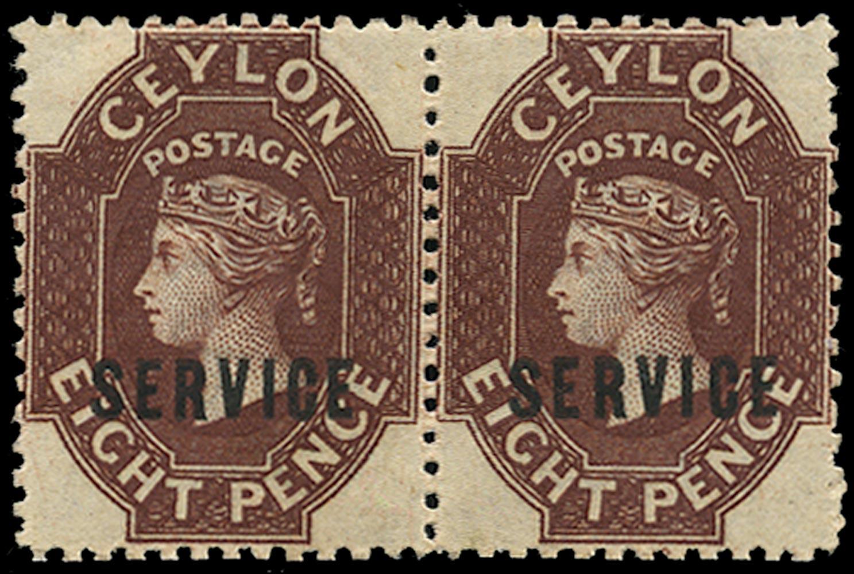 CEYLON 1869  SGO3 Official