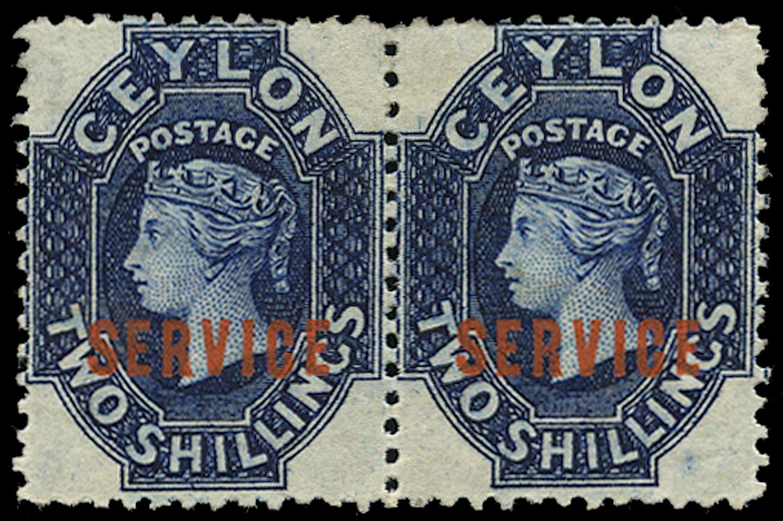 CEYLON 1869  SGO5 Official