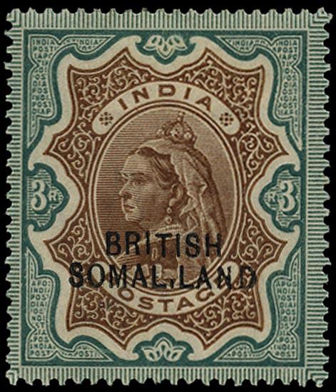 SOMALILAND PROTECT 1903  SG23d Mint QV 3r brown and green variety SOMAL.LAND
